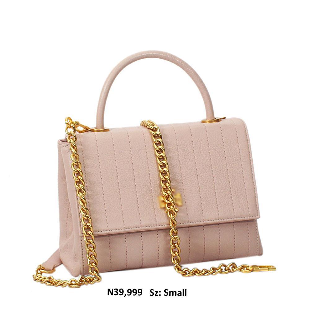 Blush Pink Alex Shay Leather Top Handle Handbag