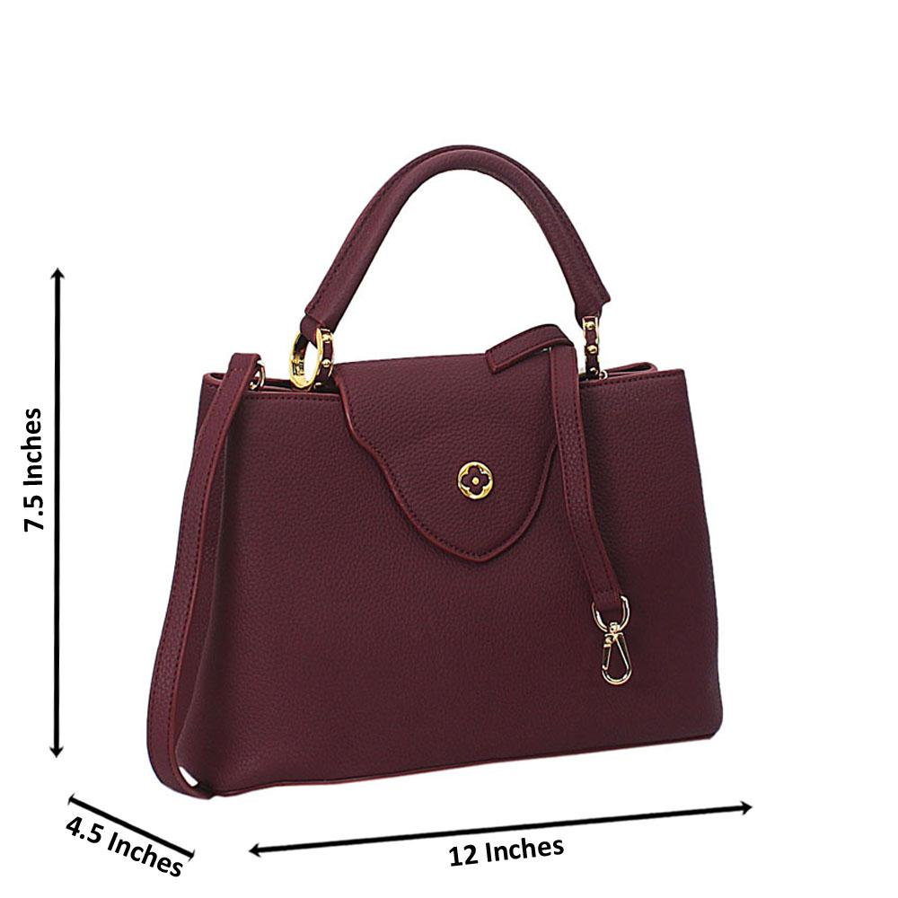 Purple Calogera Leather Top Handle Handbag
