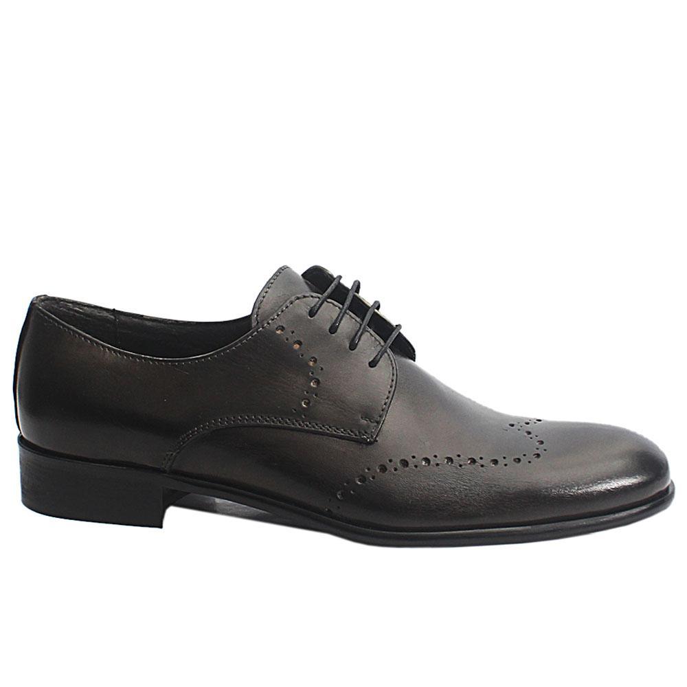 Grayish Black Elio Italia Leather Men Oxford