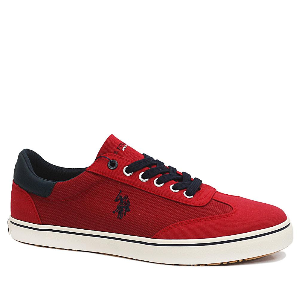 Sz 45 USSPA Red Ted Fabric Sneakers