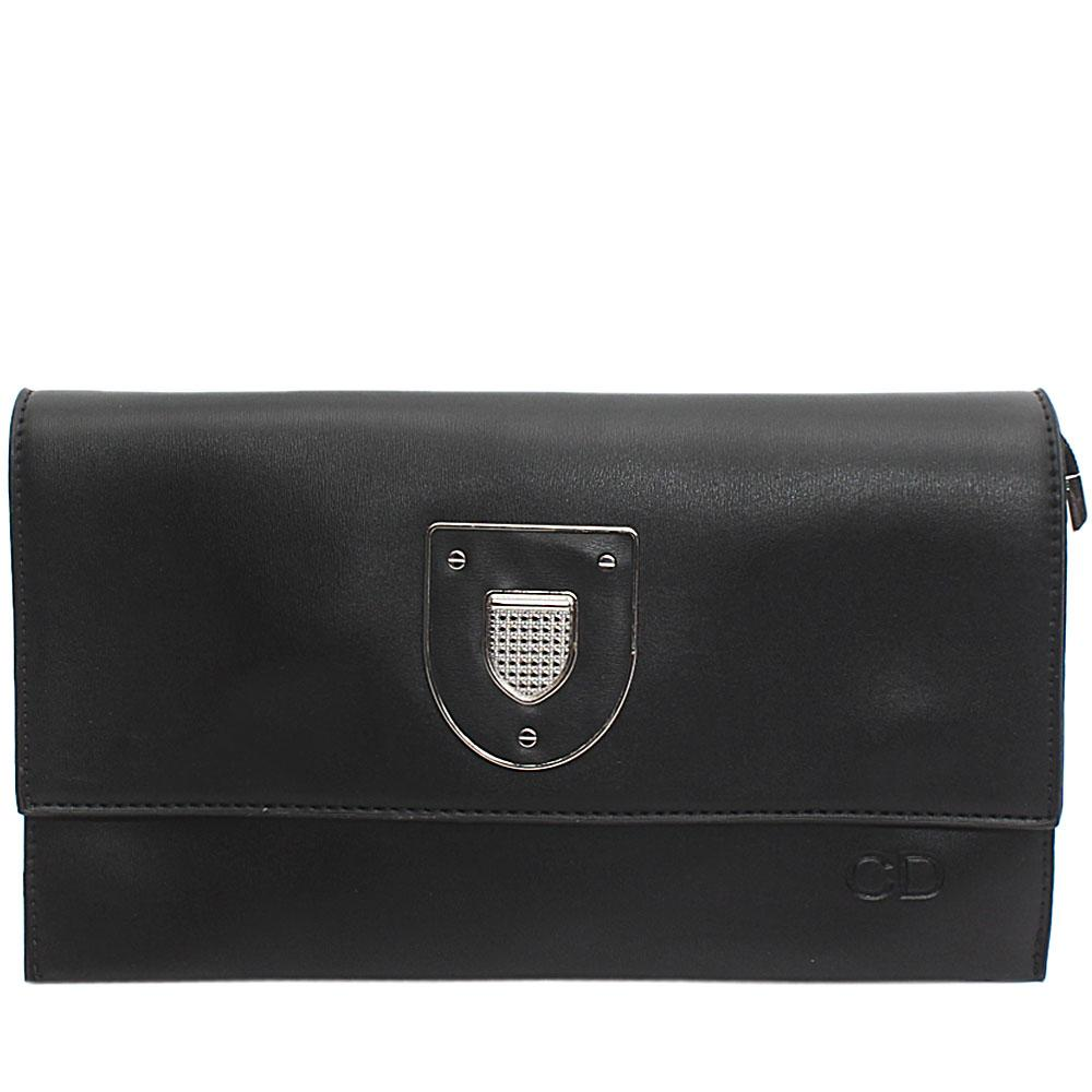 Black Marshal Leather Flat Purse