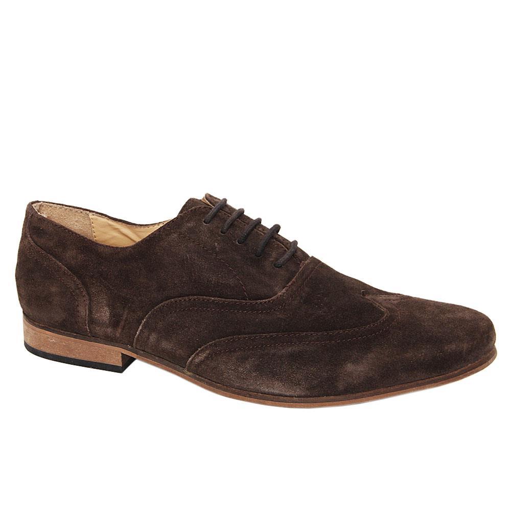 Coffee Suede Men Oxford Shoes