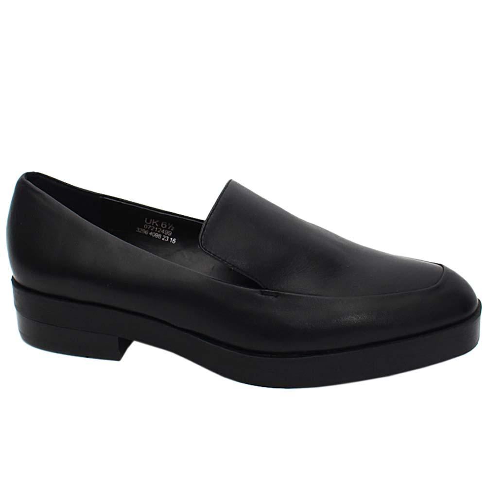 Black Maris Eli Leather Ladies Low Heel Shoe