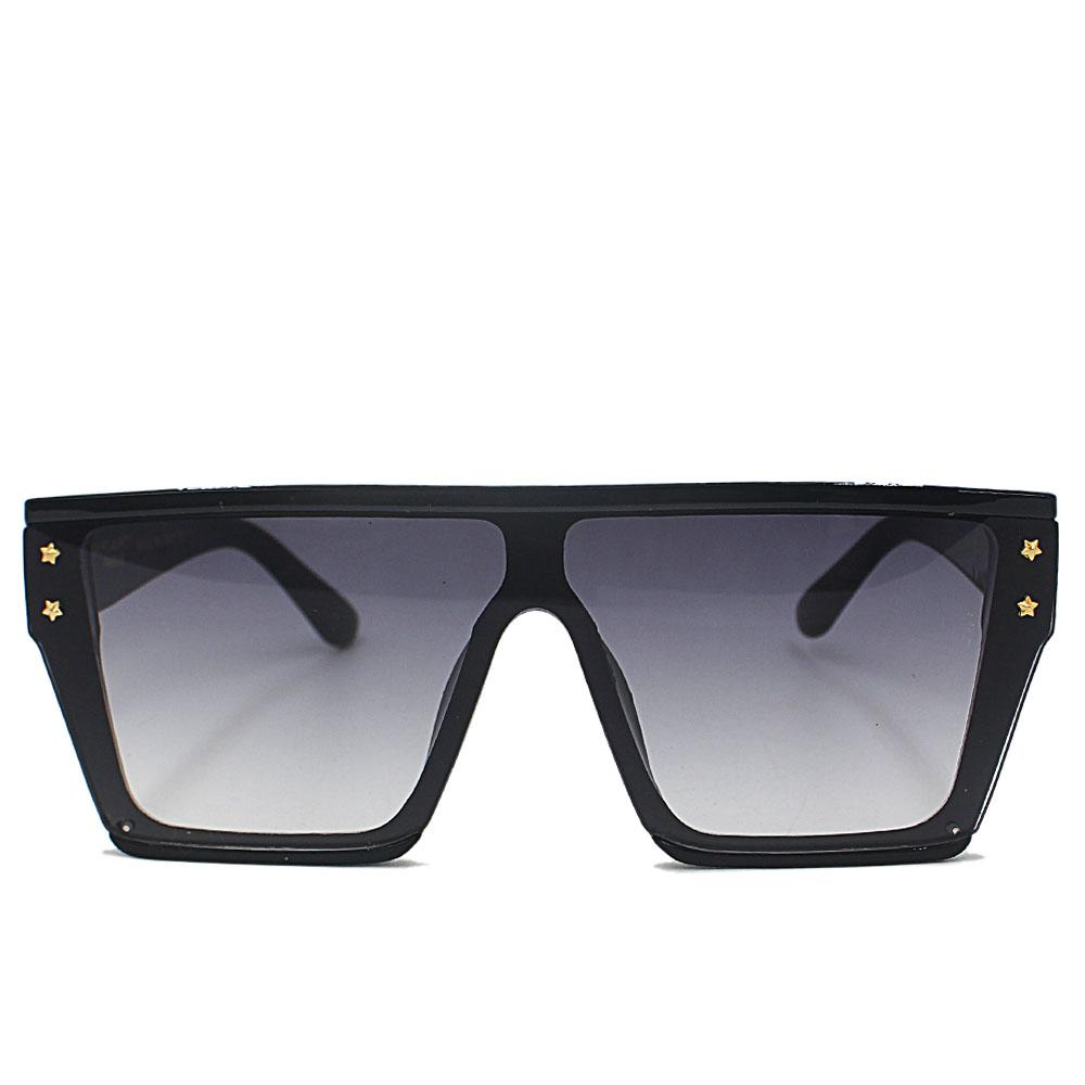 Black WoOversize Shield Sunglasses