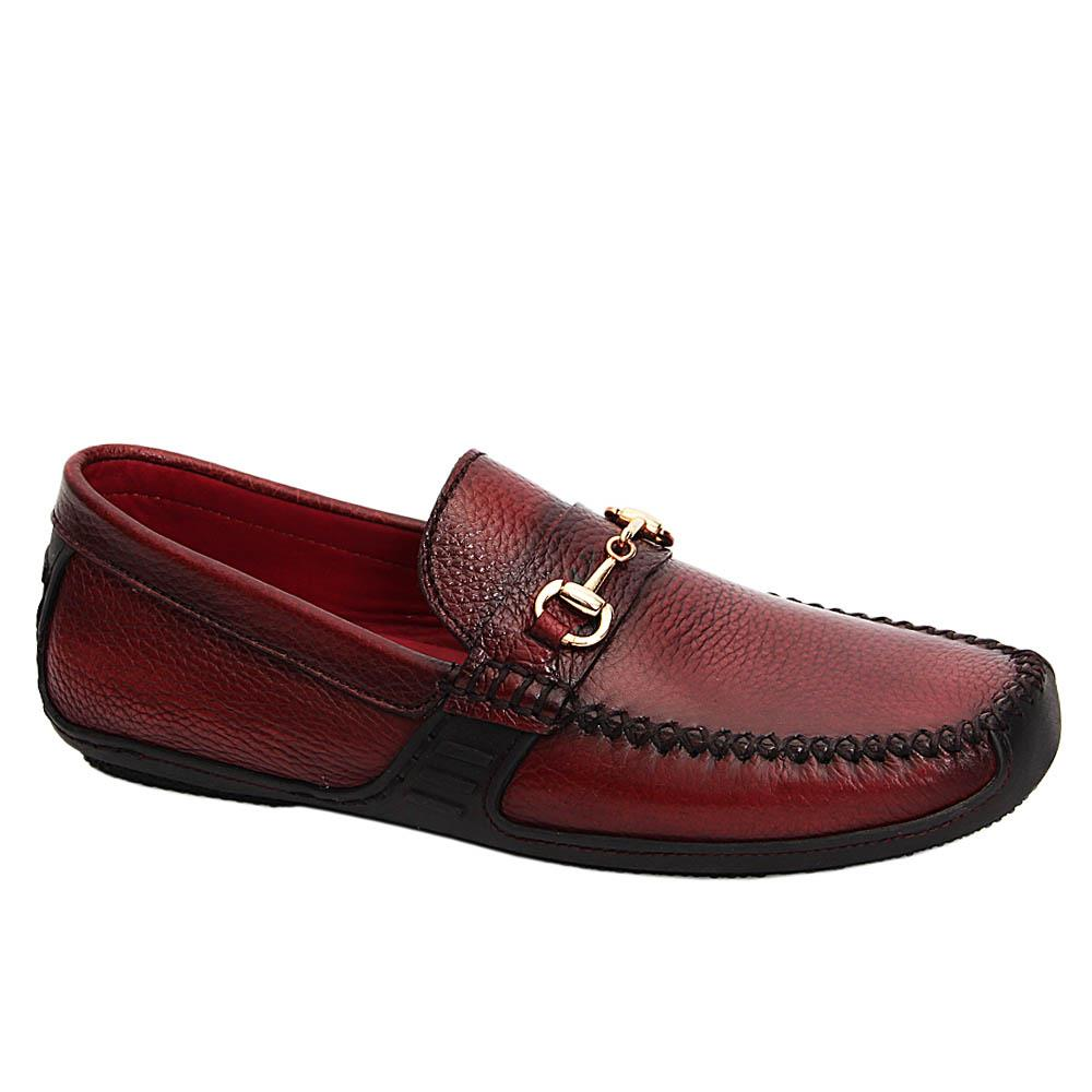 Burgundy Fabio Ace Italian Leather Drivers Shoe