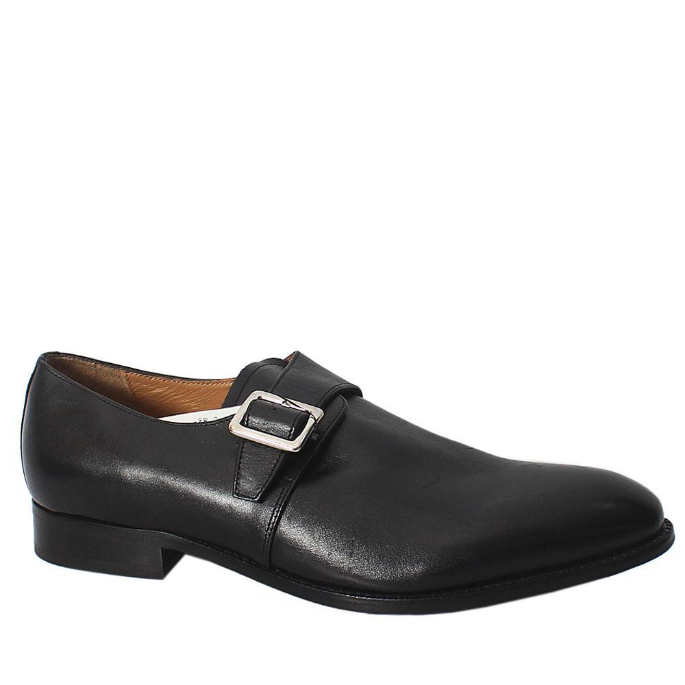 M&S black Premium Leather Men Shoe Sz 46