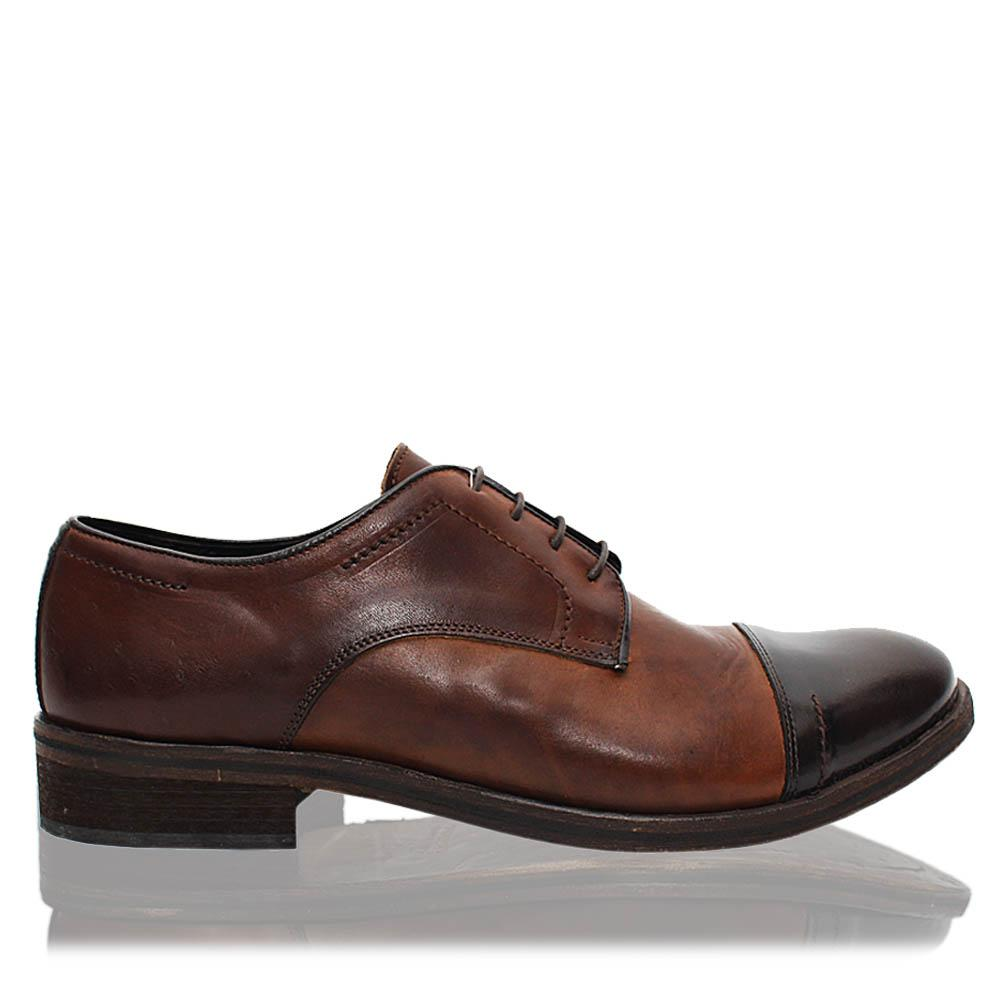 Brown Alberto Italia Leather Men Derby Shoes