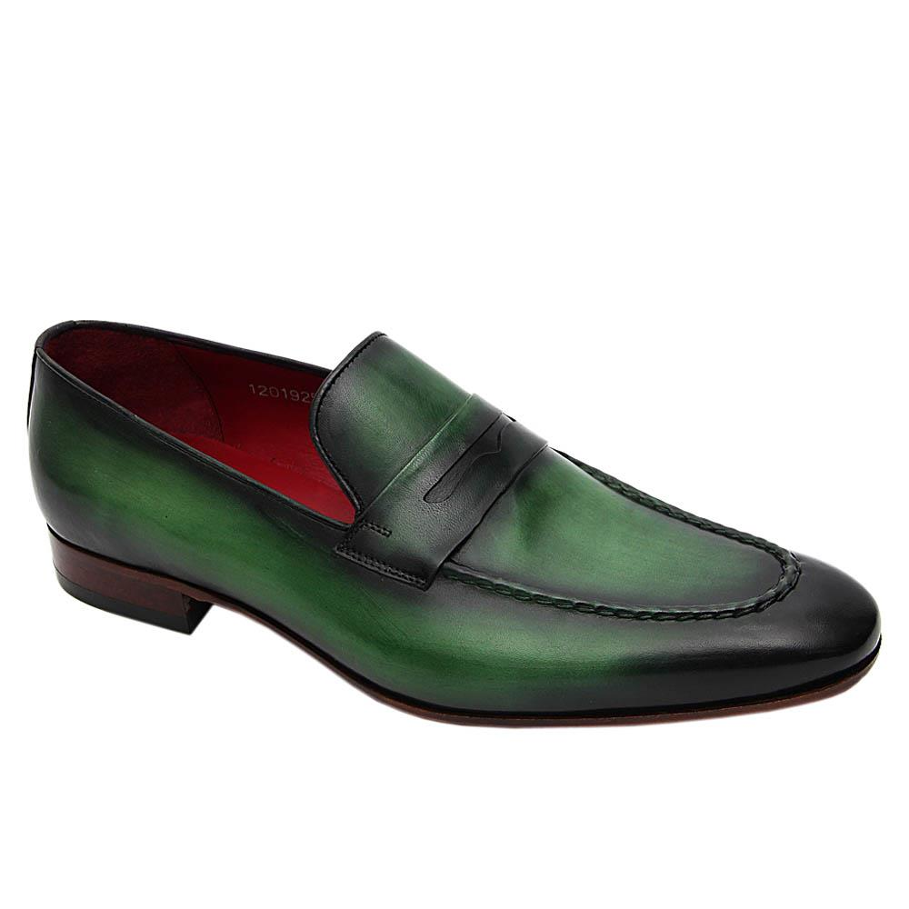 Green Liam Marcus Italian Leather Loafers