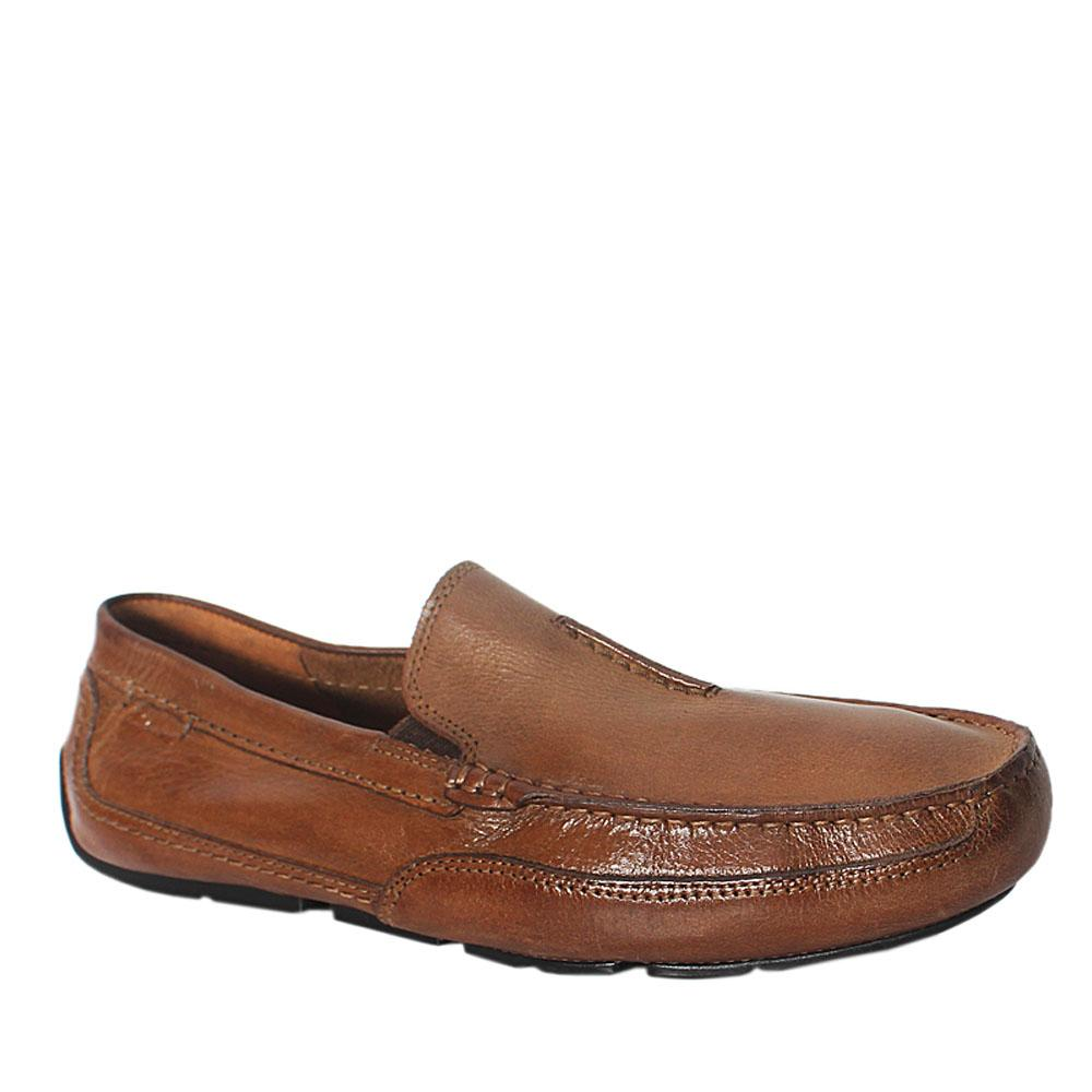 Light Brown C Ortholite Leather Drivers Shoes
