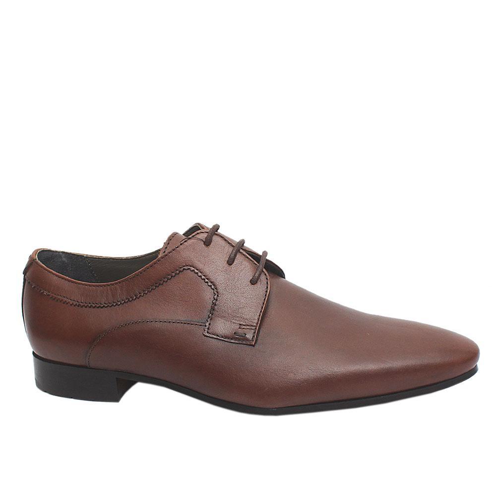 Autogragh Brown Leather Men Shoe