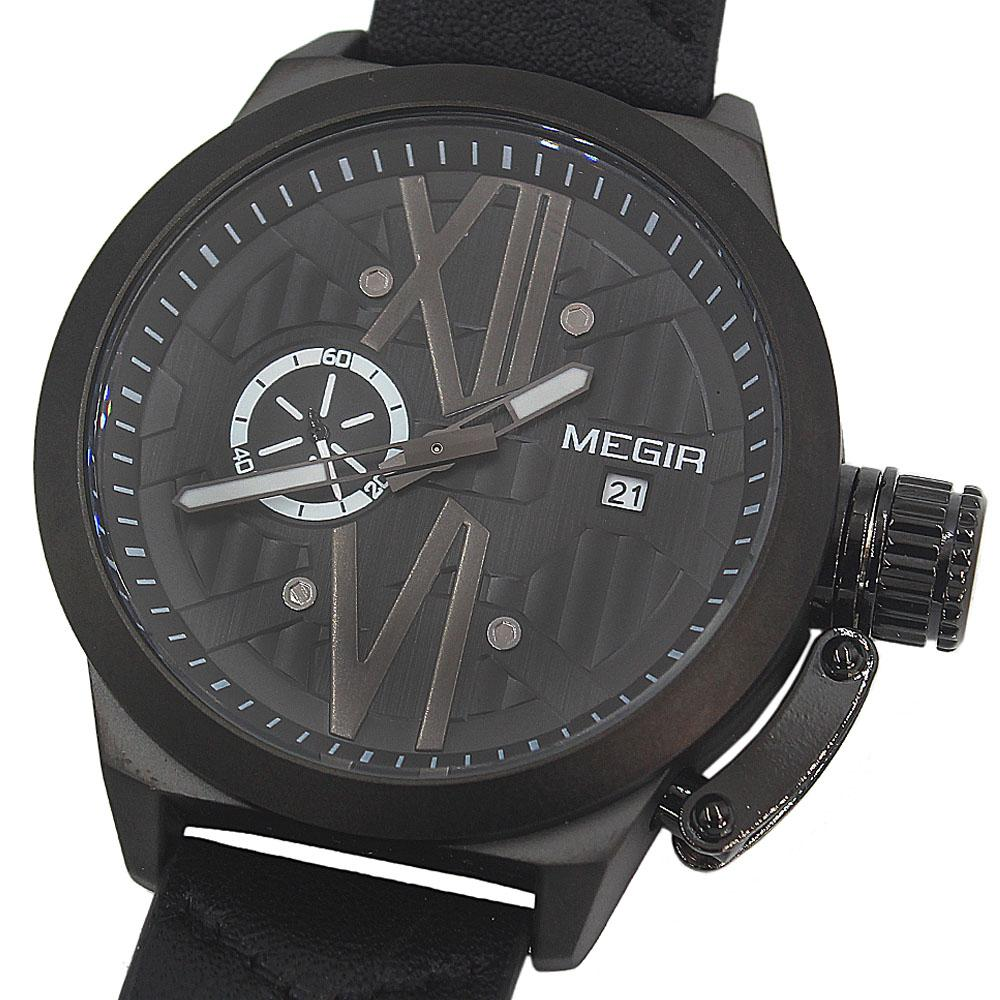 MG Xchange Black Leather Watch