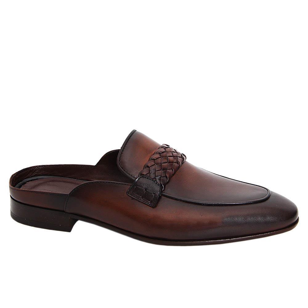 Coffee Joaquin Italian Leather Half Shoe