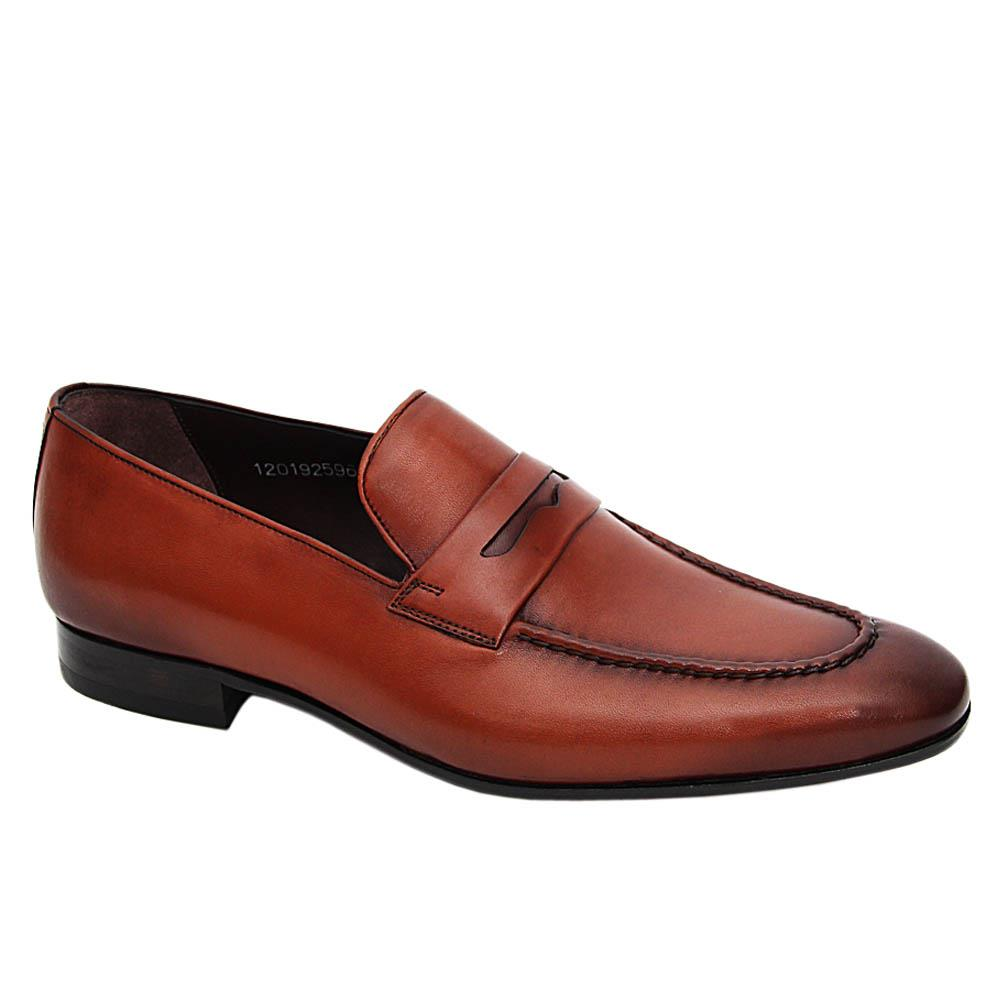 Brown Liam Italian Leather Loafers