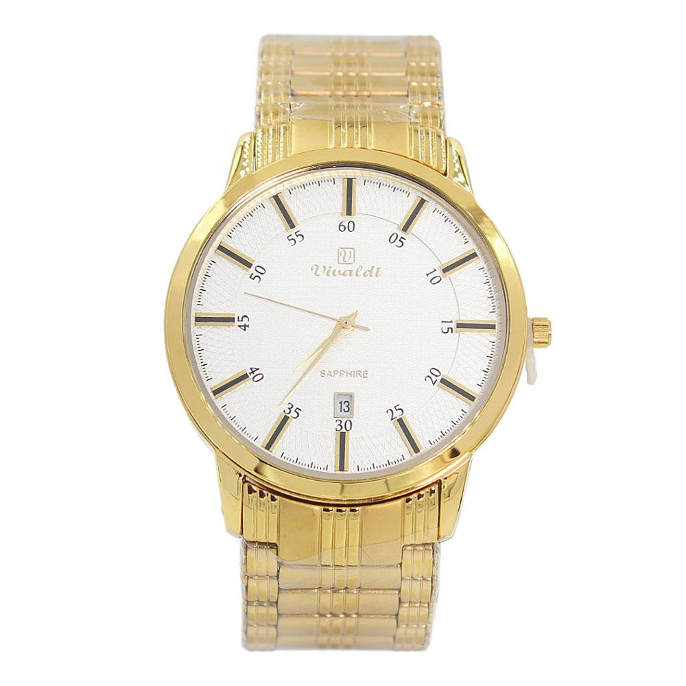 Gold Classic Stainless Steel Fashion Watch
