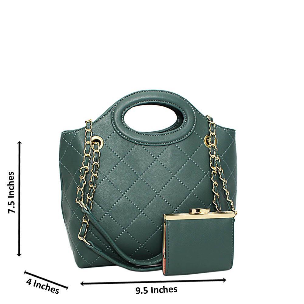 Tilt Green Ashley Leather Small Tote Handbag