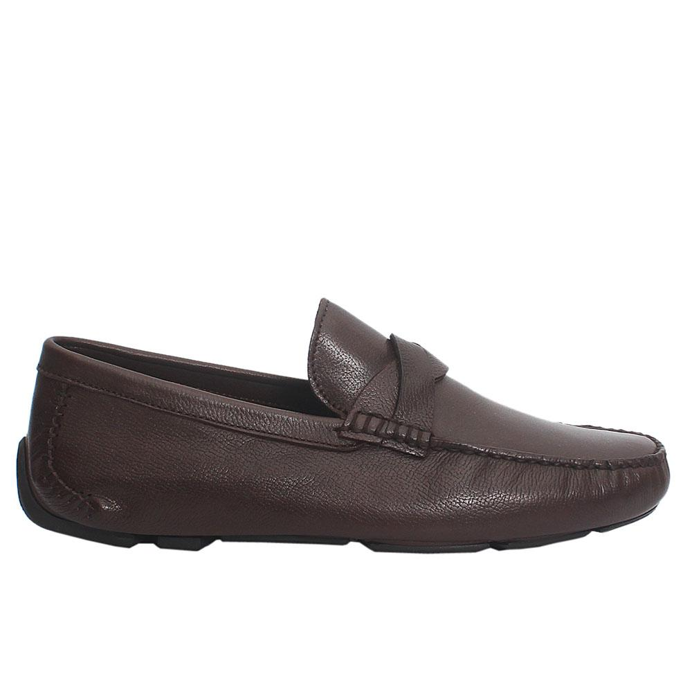 Coffee Shawn Italian Leather Loafers