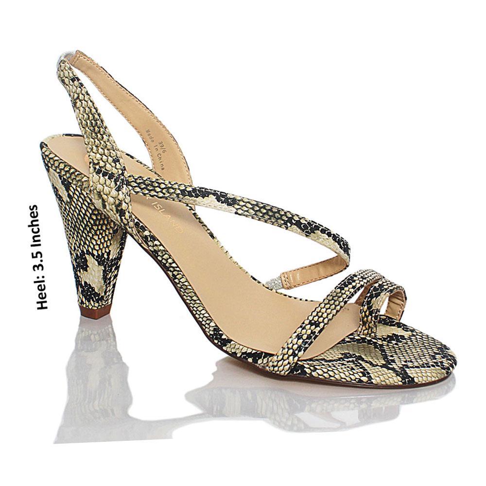 Cream-Black-Sofia-Snake-Styled-Leather-Heels