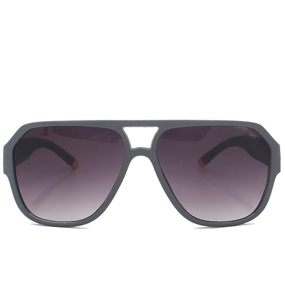 Gray Aviator Enamel Wide FSunglasses