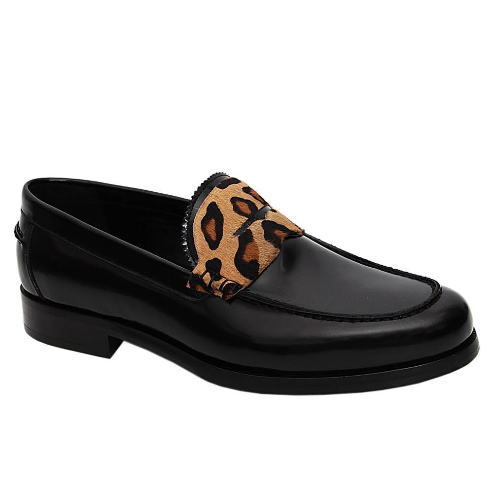 Black Celso Italian Leather Loafers