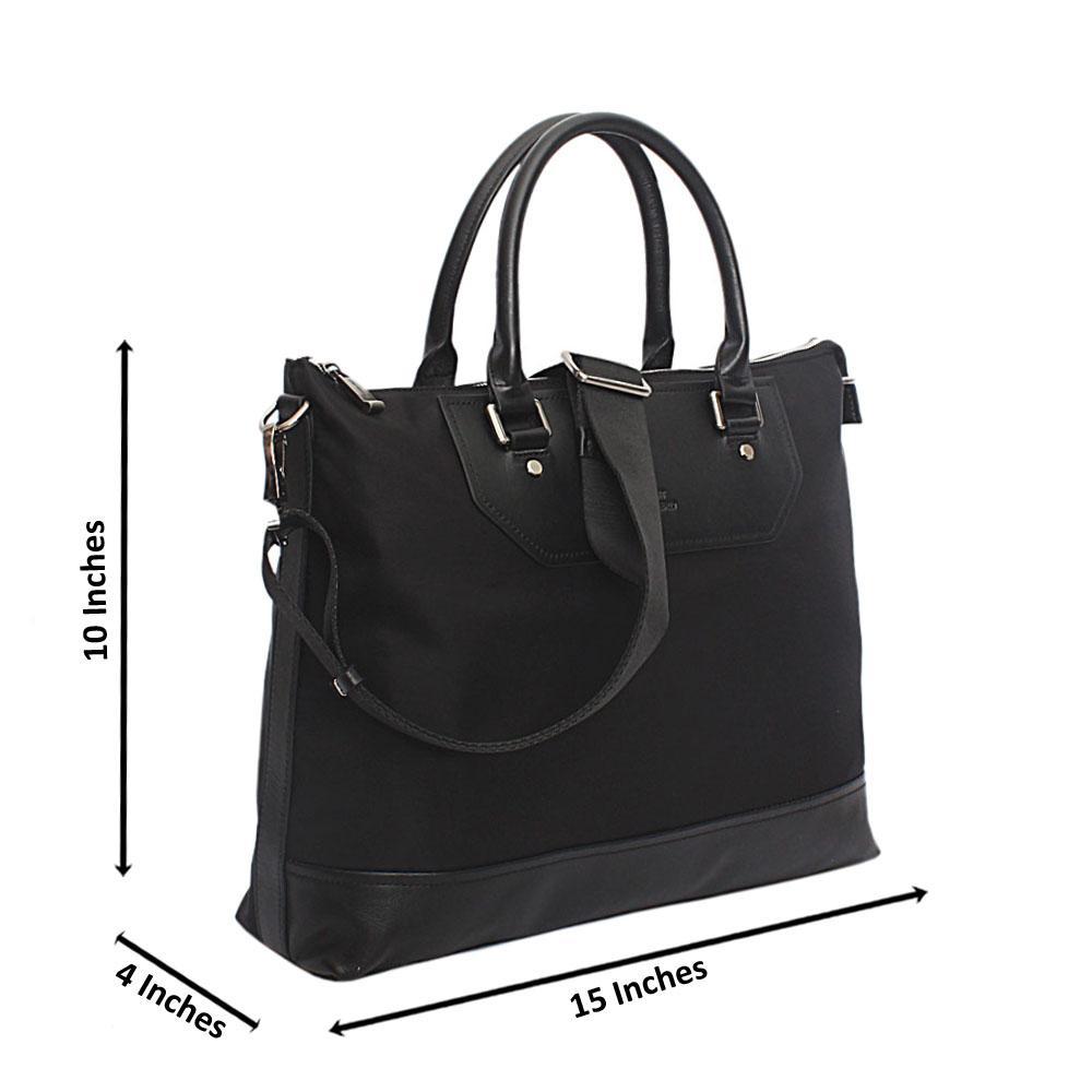 int Halberd Black Cordura Fabric Man Bag
