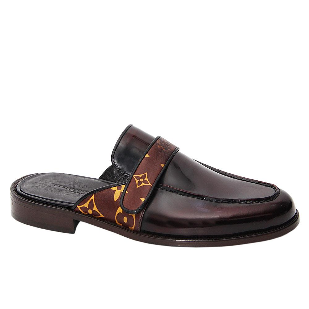 Coffee Nadal Italian Leather Half Shoe