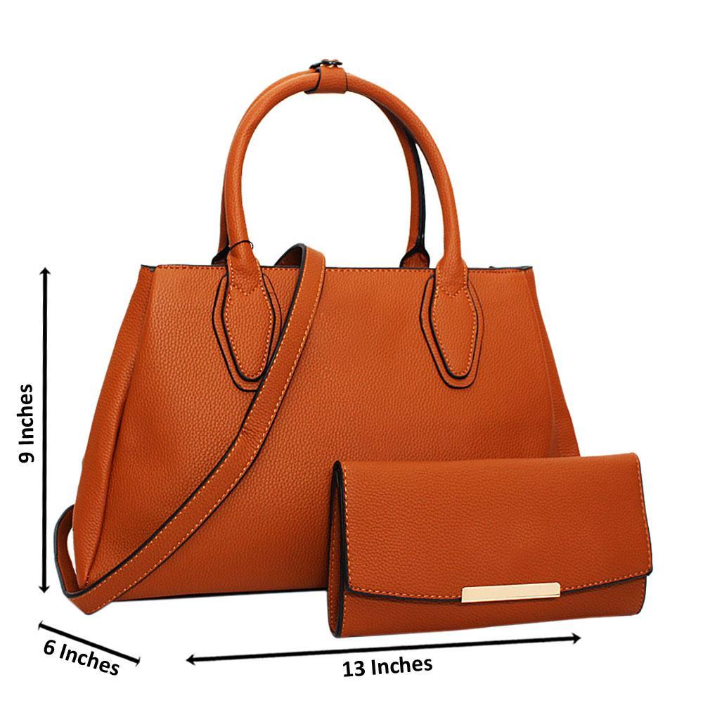 Brown Tessa Leather Medium Tote Handbag