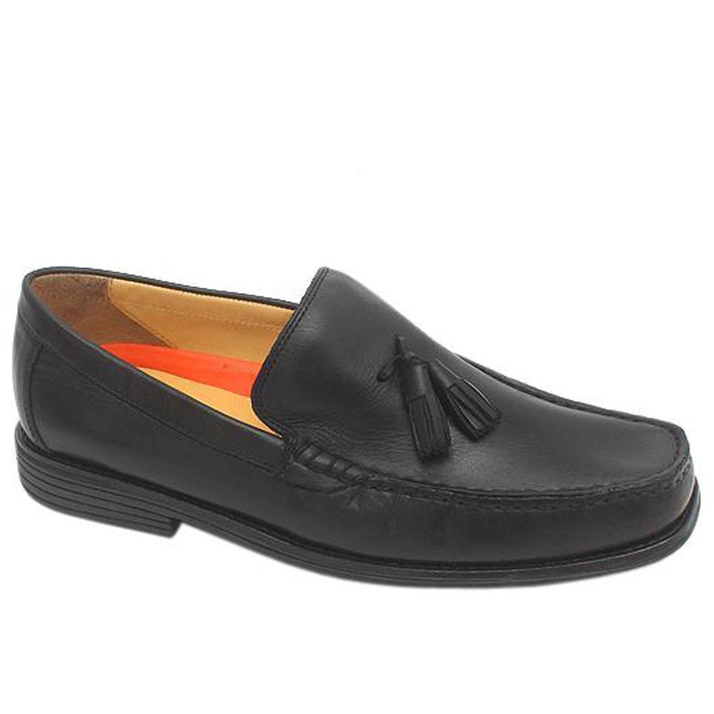 M & S Air Flex Black Leather Men Shoe Sz 42