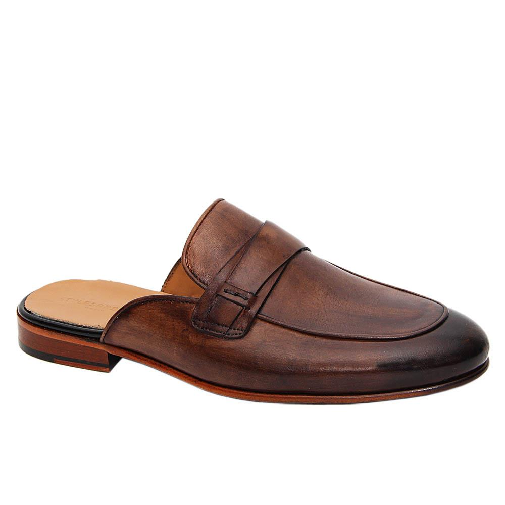 Brown Ramos Italian Leather Half Shoe