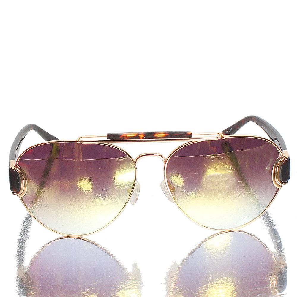 Gold Brown Aviator Gold Polarized Lens Sunglasses