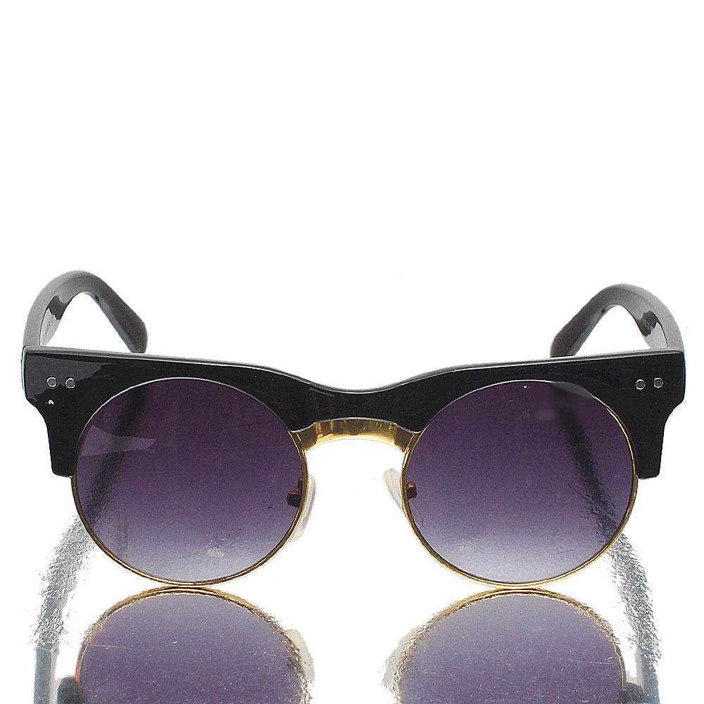 Gold-Black-Club-Master-Dark-Lens-Sunglasses