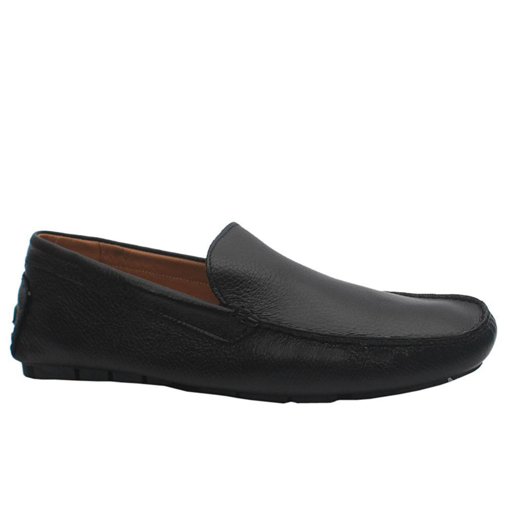 Black Nero Leather Drivers Shoes