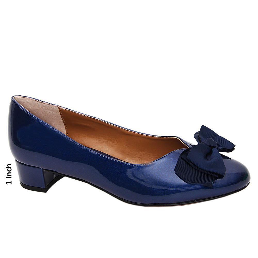 Navy-Kiana-Patent-Leather-Low-Heel-Pumps