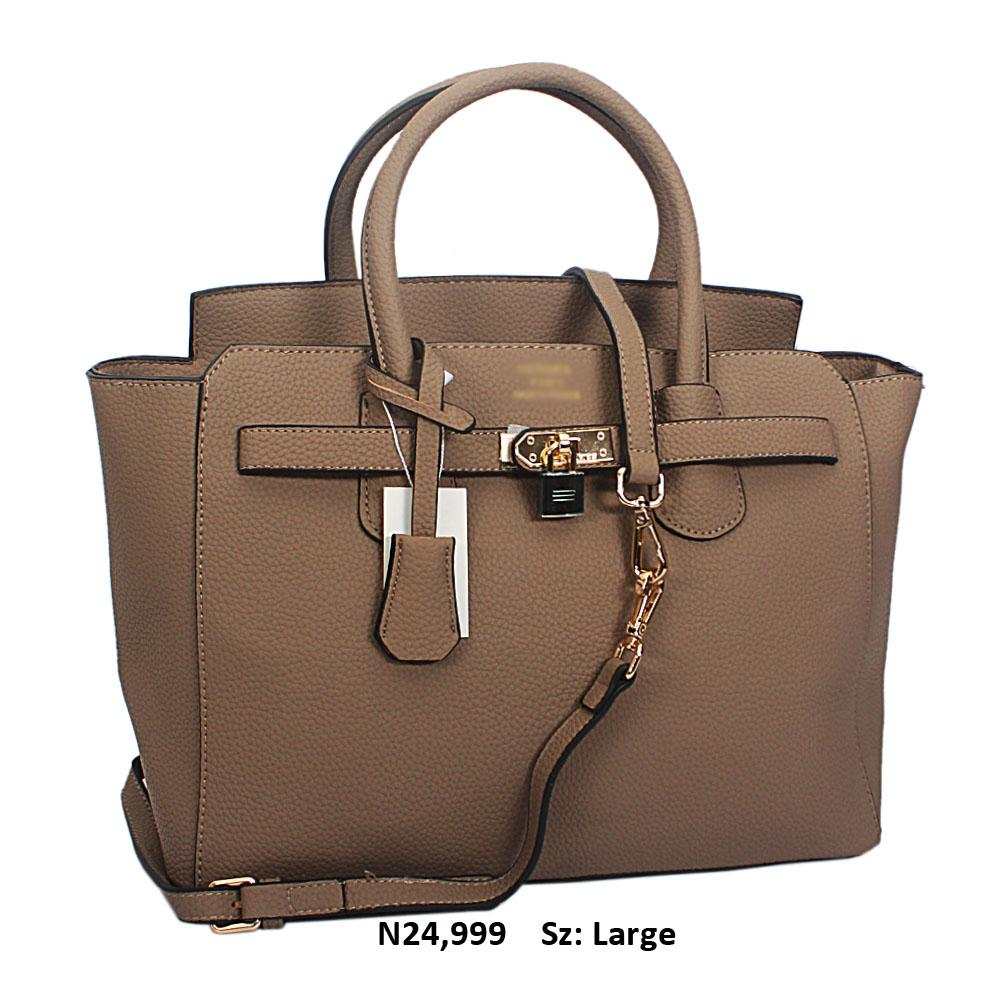 Khaki Yolanda Leather Tote Handbag