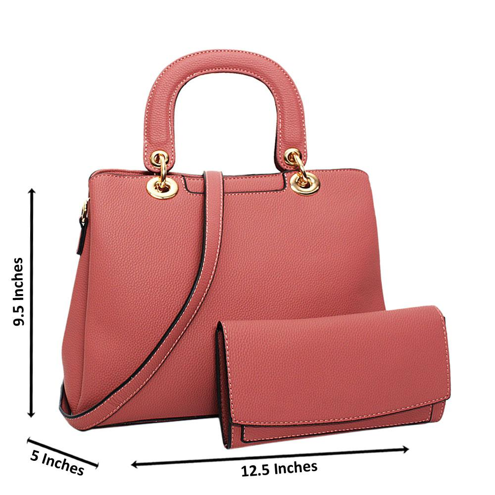 Pink Layla Leather Medium Tote Handbag