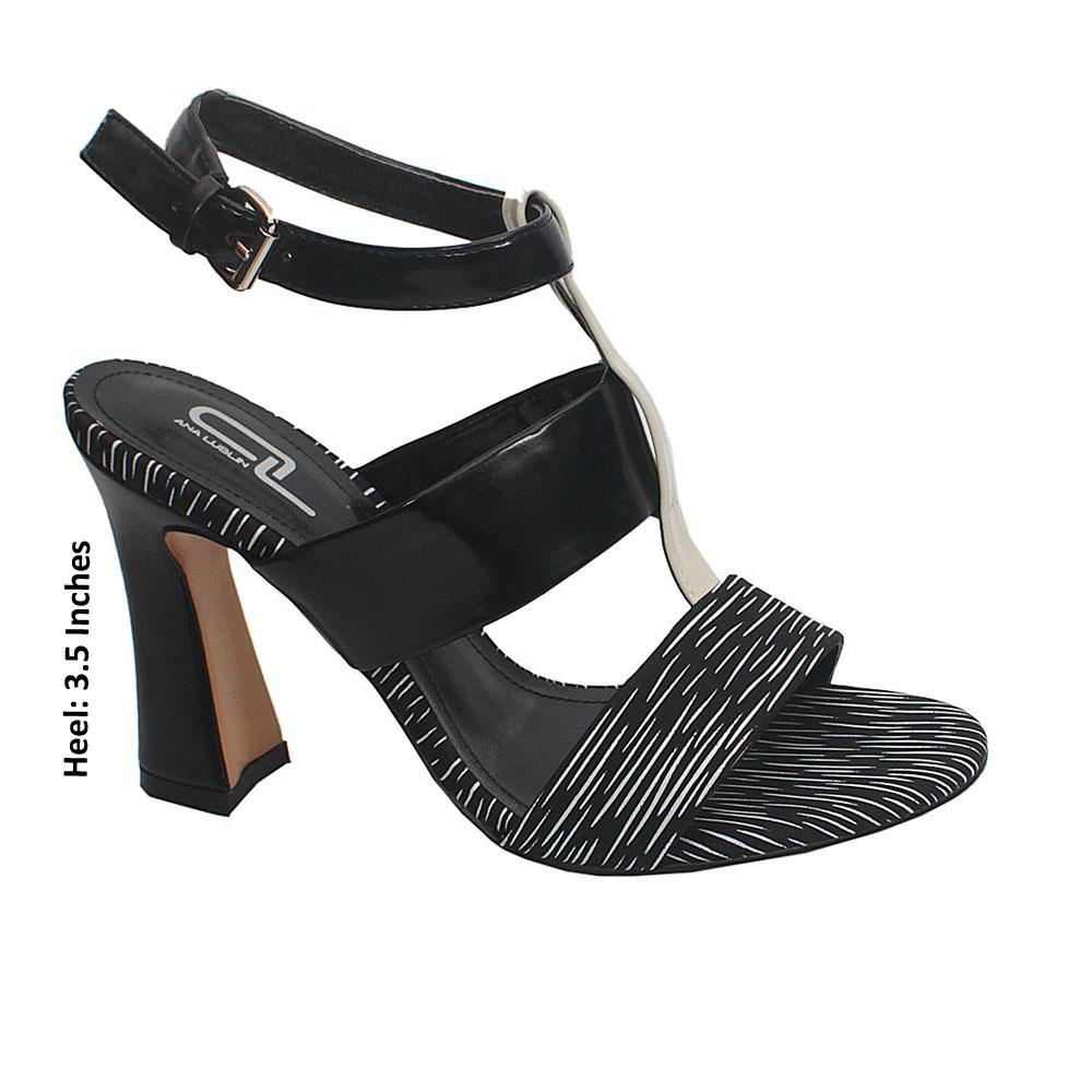Monochrome Leather Heels