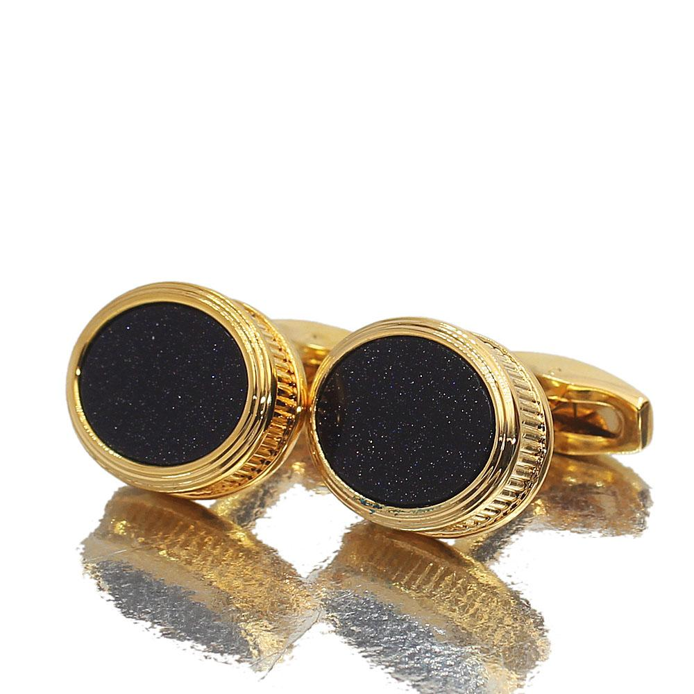 Glitz Ceramic Gold Stainless Steel Cufflinks