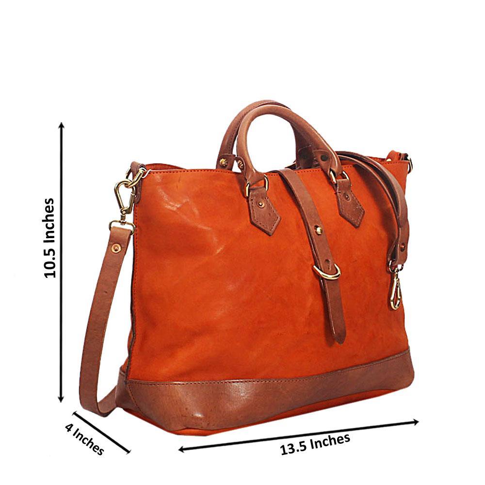 Caramel Brown Verona Hand Made Spanish Leather Tote Handbag