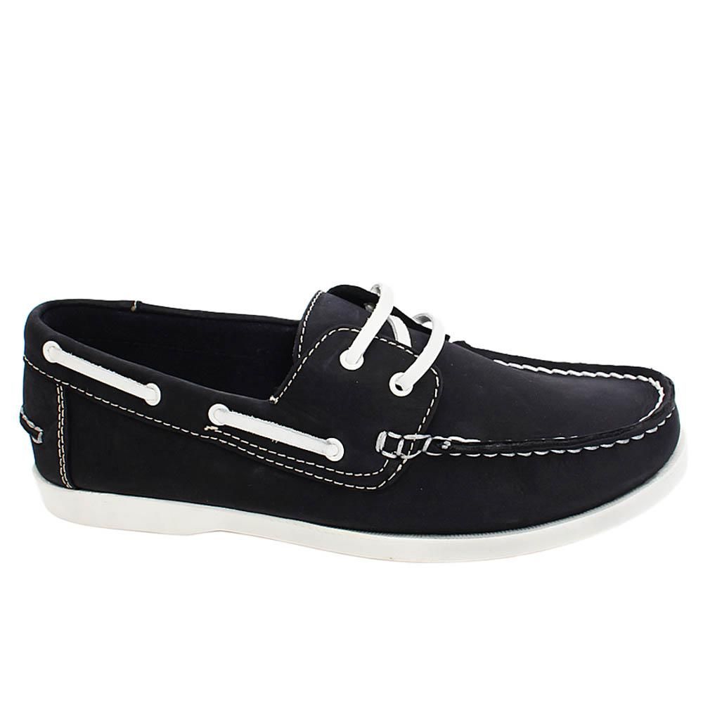 Dark Navy Elon Felton Leather Men Casual Sneakers