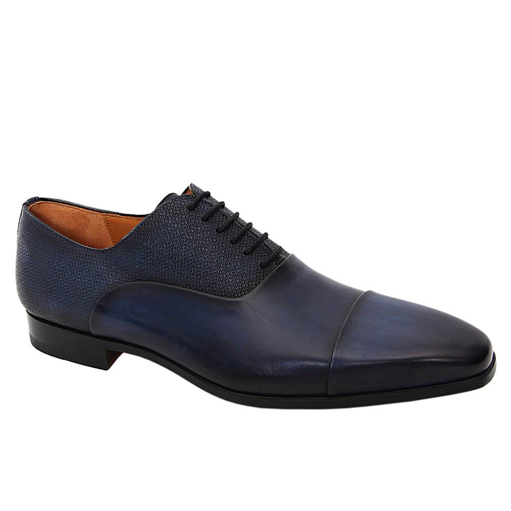 K Geiger Dark Navy Brian Leather Oxford Shoe Sz 43