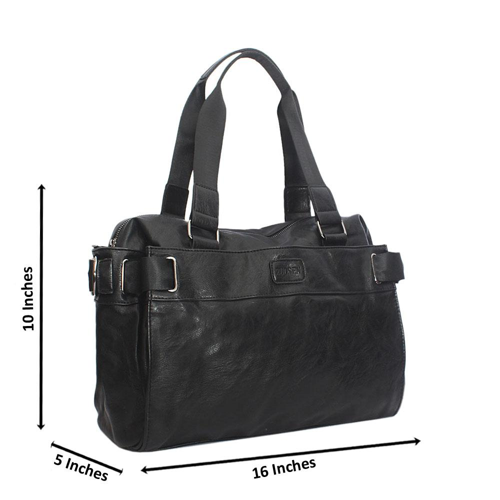 Blossom Black Cassania Leather Man Bag