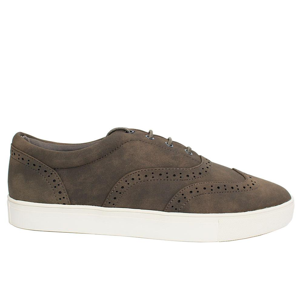 Gray Carson Leather Sneakers
