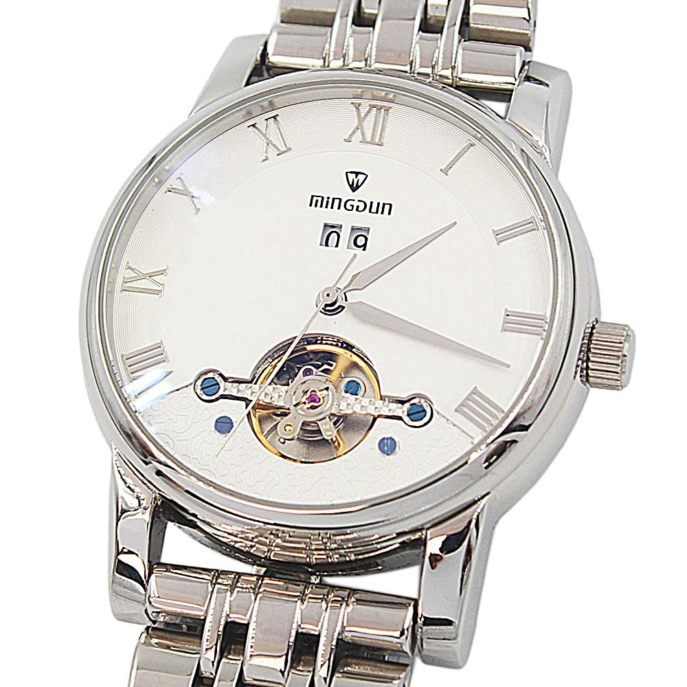 Silver-Stainless-Steel-Automatic-Watch