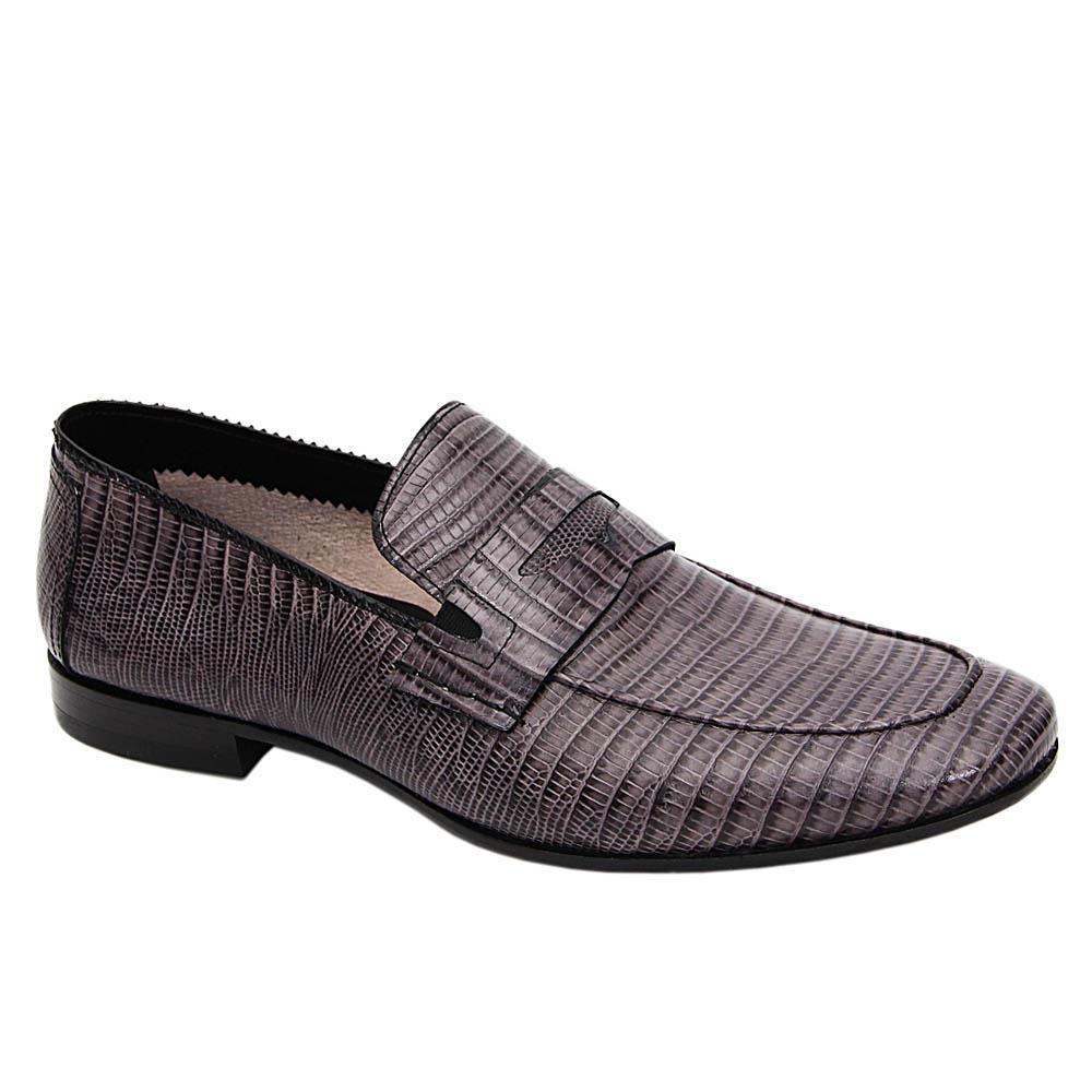 Grey Inacio Italian Leather Loafers
