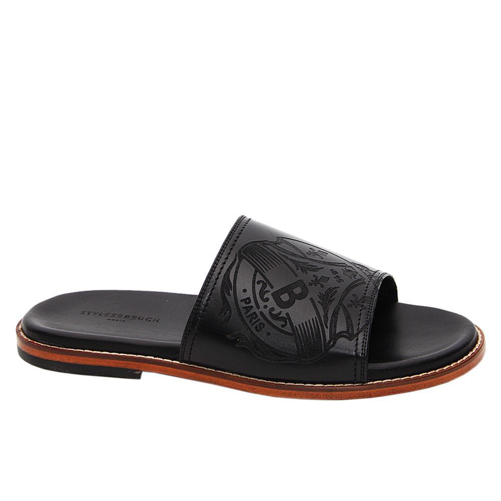 Black-Juan-Manuel-Italian-Leather-Slippers