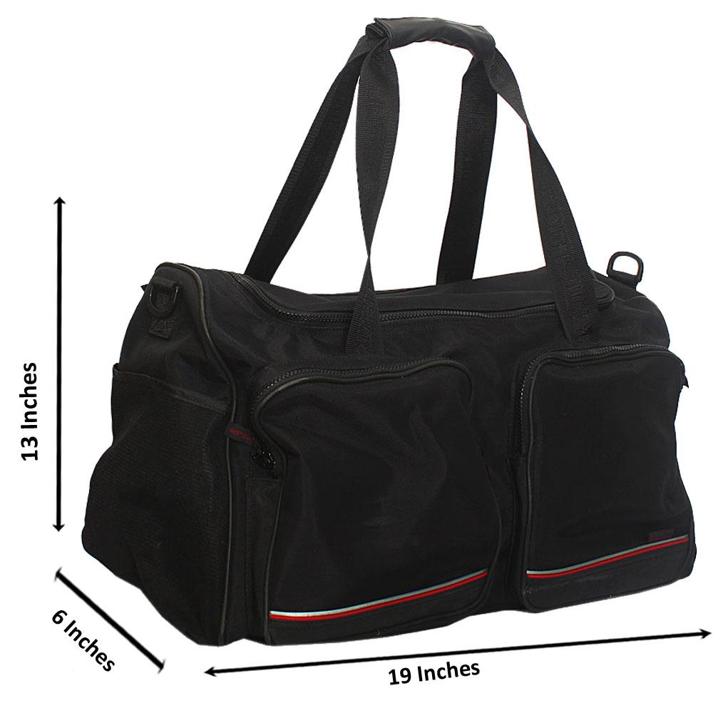 Sportswear Black Cordura Fabric Duffel Bag