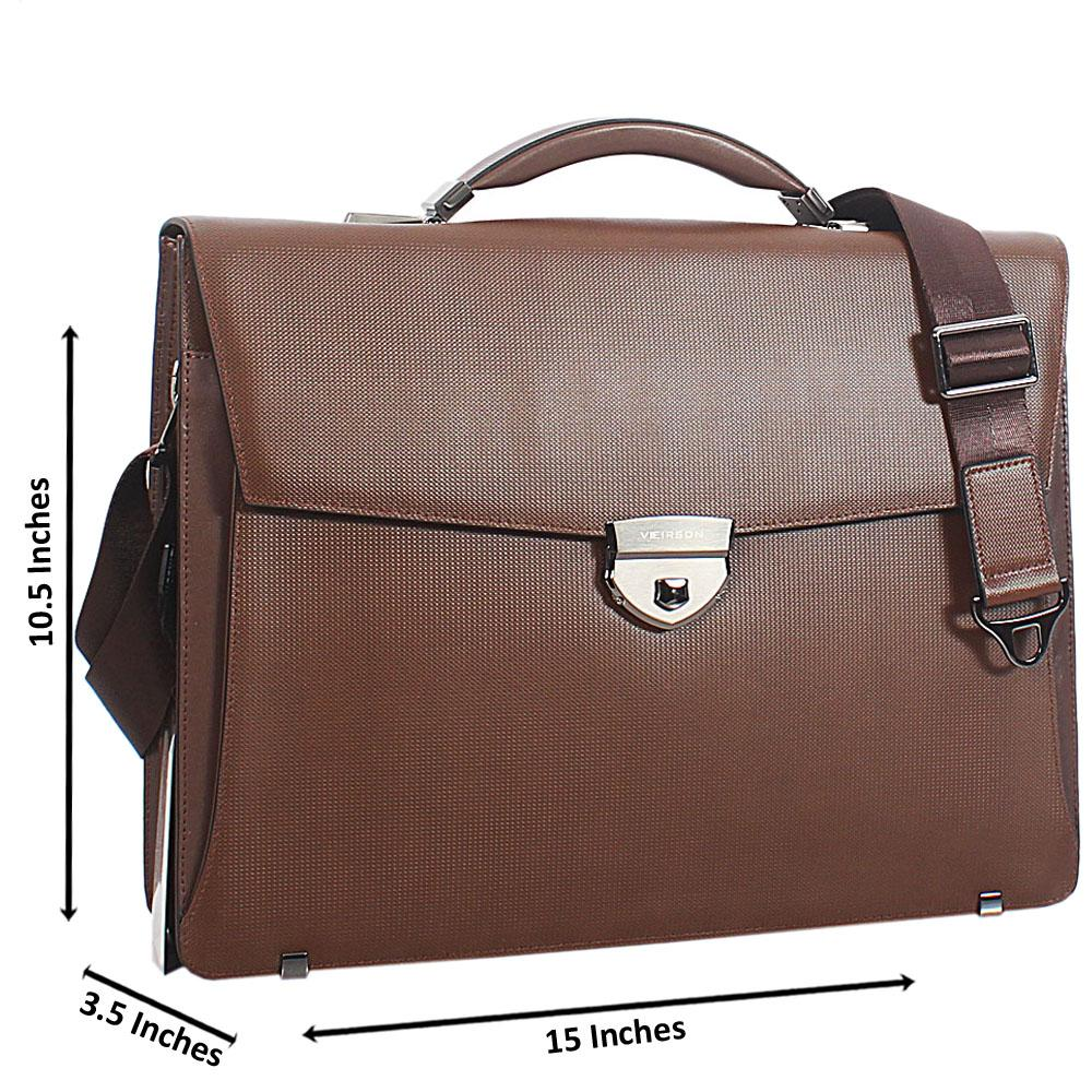 Brown-Cowhide-Leather-Briefcase