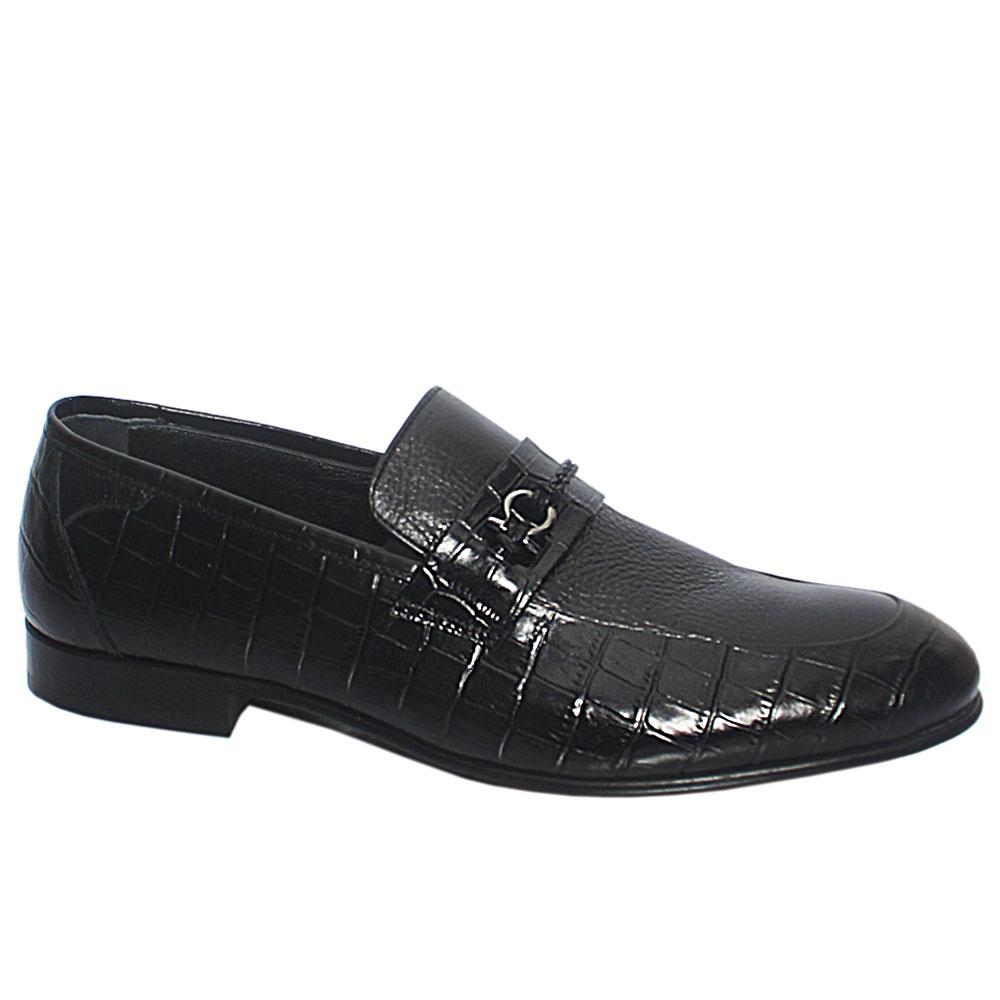 Black Alex Italian Leather Penny Loafers