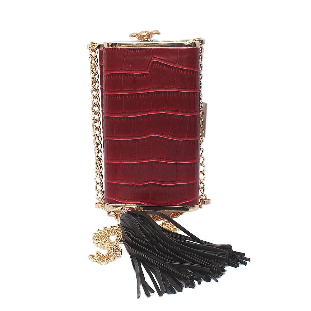 Red Oliva Celebrity Clutch Purse