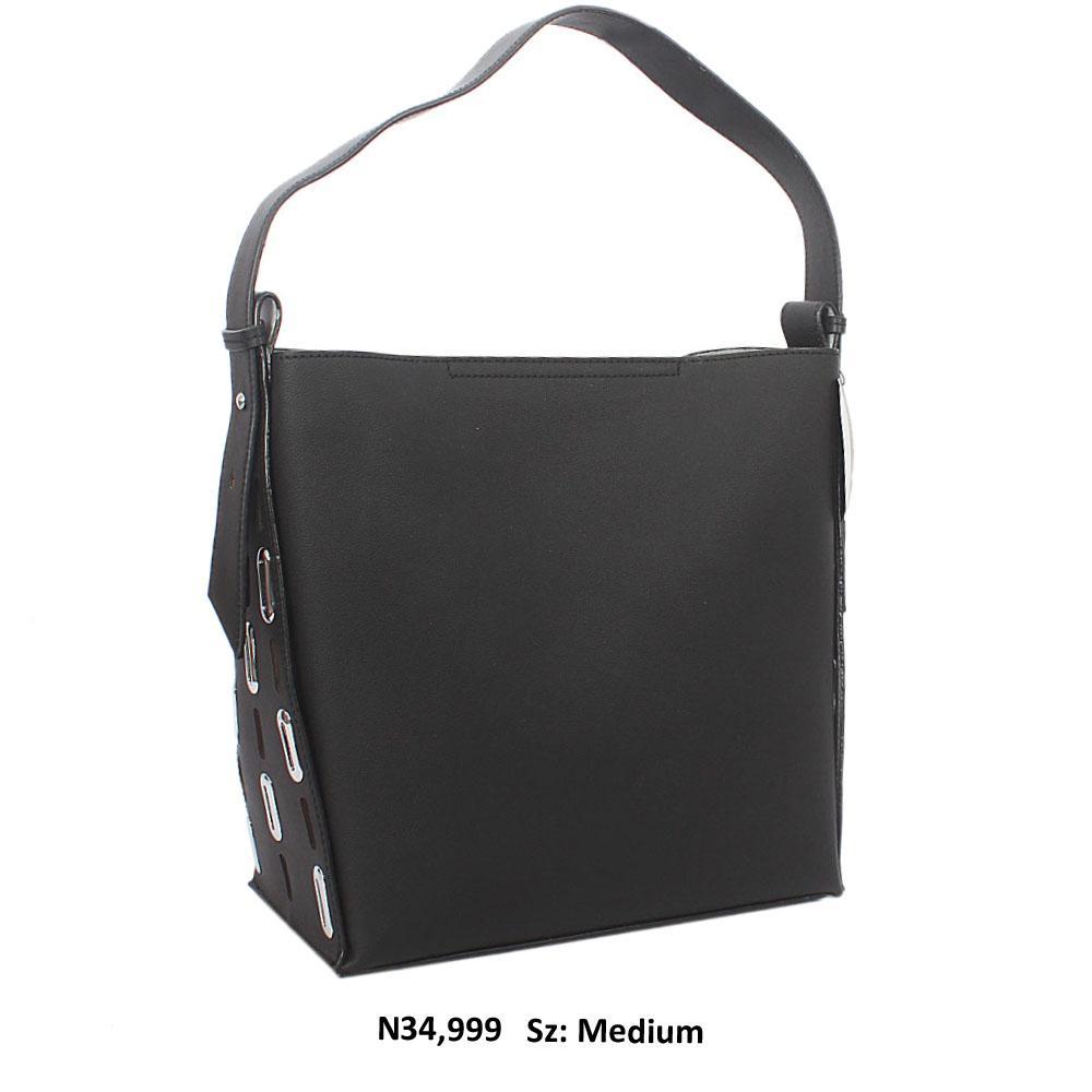 Black Paige Leather Shoulder Handbag
