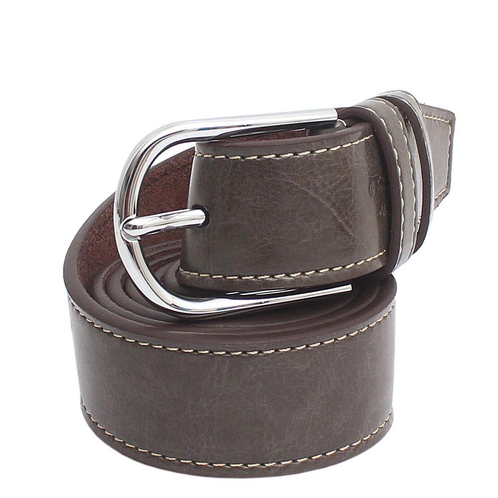 Ferragamo Army Green Classic Leather Men Belt L 49 Inches